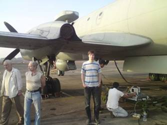 Дмитро Маслов під бортом протичовнового літака