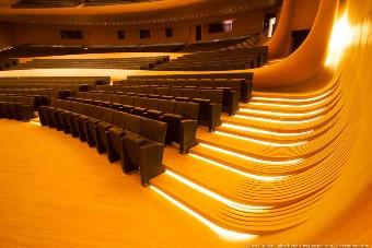 Концертный зал: места зрителей, вид сбоку