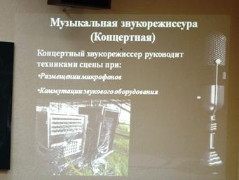 Один із слайдів презентації Ігоря Котвицького - концертна музична звукорежисера