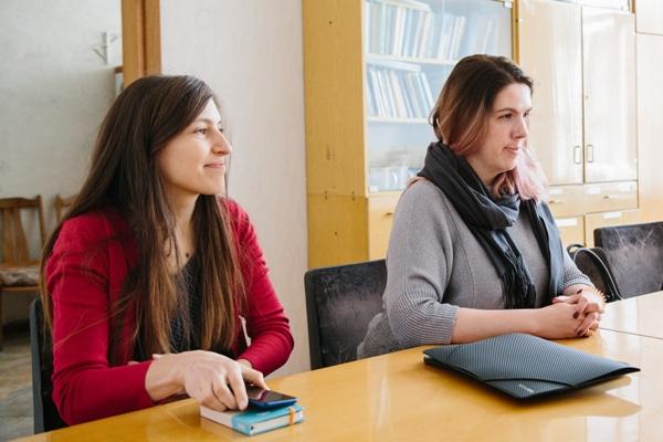 Представники Sprint-42: PR-менеджер Анна Будкевич та виконавчий директор Кіра Рудик-Кузьменко