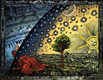 """Гравюра Каміля Фламаріона із книги """"Атмосфера. Метеорологічні явища"""", 1888 р."""